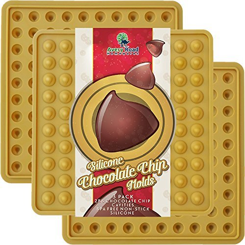 Chocolate Chip molde silicona 3Pack ~ New Aprobado por la FDA LFGB trocitos de chocolate candy moldes de silicona de grado...
