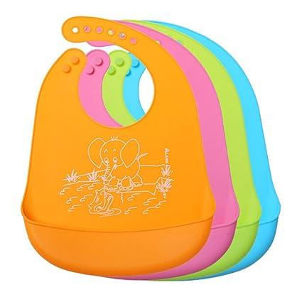 Resistente al agua silicona bebé babero fácilmente toallitas limpia las manchas cómodo suave niño baberos Keep