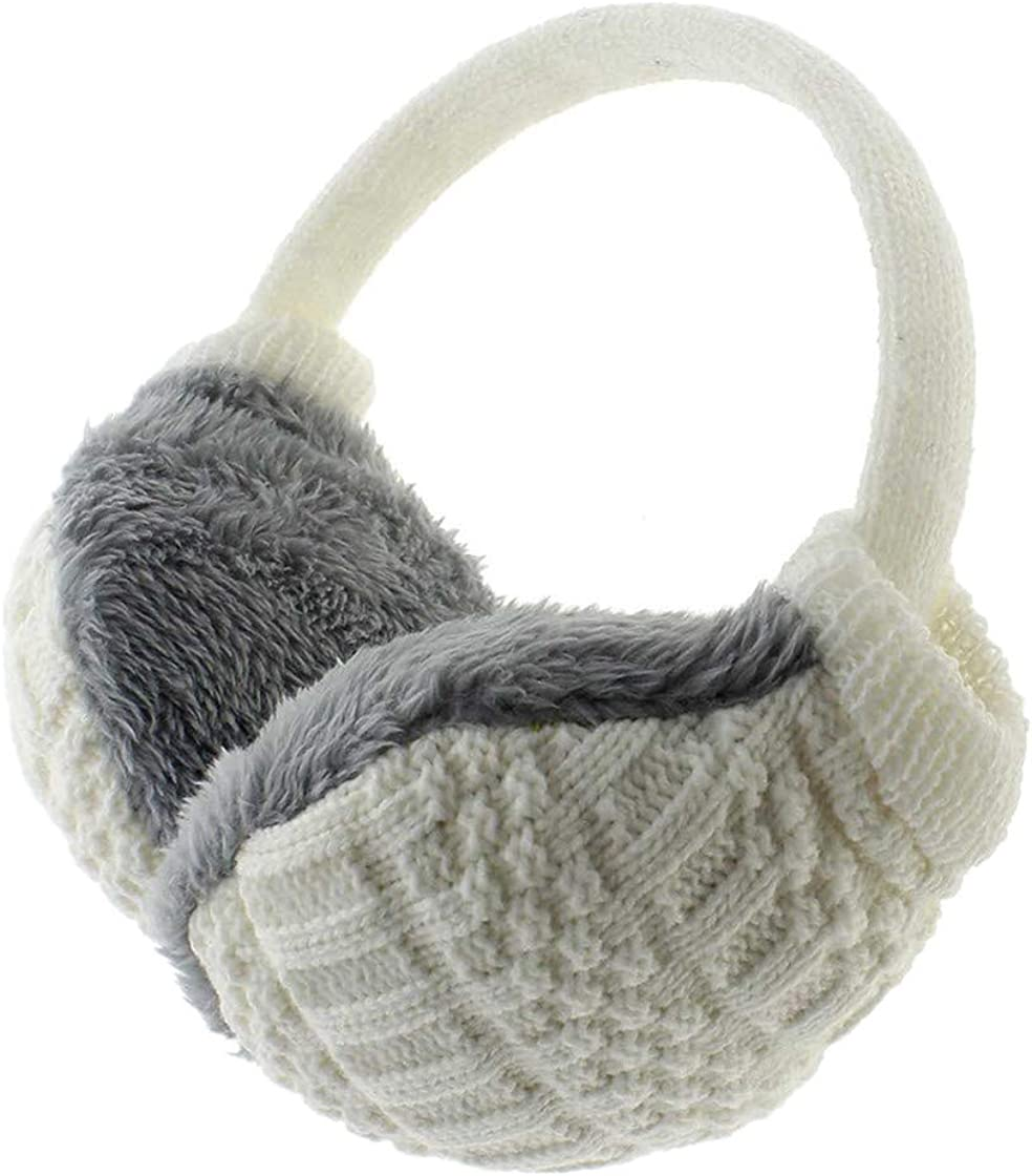 Unisex Winter Earmuffs Warm Ear Cover Knitted Plush Ear-Cap Gift