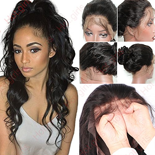S-noilite 14 Inch Human hair lace front wig for black women ladies brazilian virgin hair wig (Lace front wig human hair wig, 14