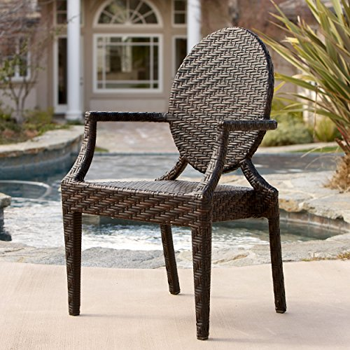 Great Deal Furniture 214147 Towns gate Wicker Outdoor Chair, Brown (Wicker Gate)