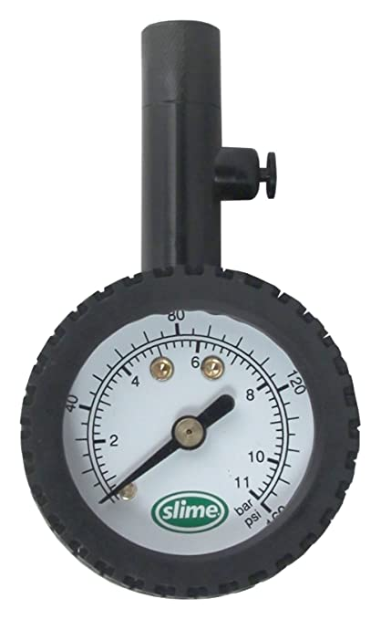 Amazon.com: Slime 20186 High PSI Dial Gauge with Bleeder Valve, 10-160 PSI: Automotive