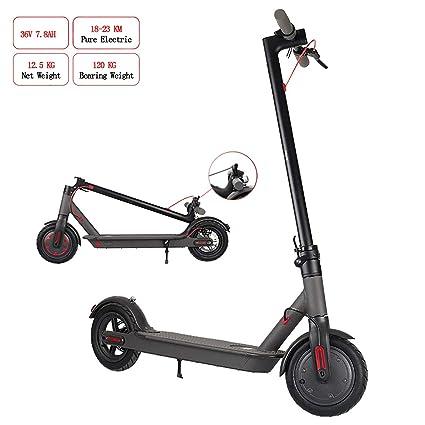 Folding Electric Scooter Aluminum Ultralight Motorized E-scooter 250W 23Km//h Wht