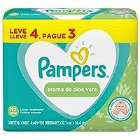 Lenços Umedecidos Pampers Aroma de Aloe Vera 192 Unidades, Pampers