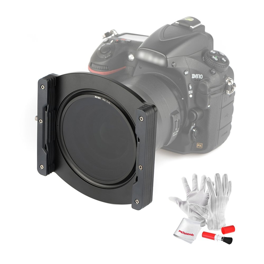 Nisi V5 Pro 100mm Filter Holder Kit with 67mm 72mm 77mm Adaptor Ring 82mm Holder Ring and 86mm Landscape NC CPL by NiSi