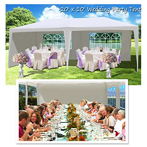 BenefitUSA 10'X20' Wedding Party Tent Outdoor Gazebo Pavilion Canopy Buffet Cater Event (With 3 Sidewalls) by BenefitUSA