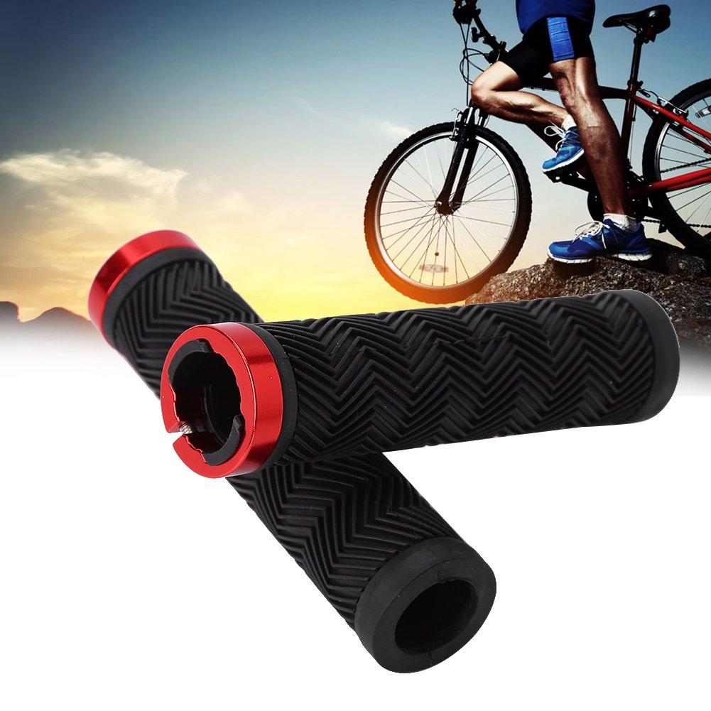 Puños de Bicicleta Manillar para Bici de Goma Antideslizante con Tapones para BMX MTB Ciclismo (Color : Negro) : Amazon.es: Deportes y aire libre