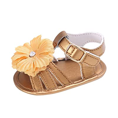 Clode® , Chaussures premiers pas pour bébé (fille) noir doré 6-12 mois