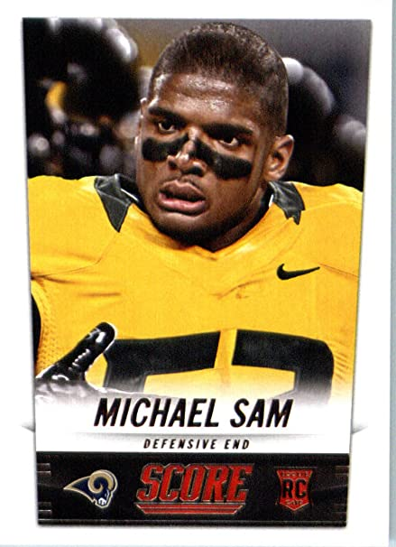0743d2aec88 Image Unavailable. Image not available for. Color: 2014 Score Football Card  #408 Michael Sam - St. Louis Rams NFL Rookie Card