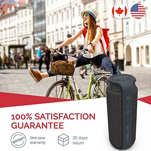 TREBLAB HD55 - Deluxe Bluetooth Speaker - Impeccable 360° HD Surround Sound & Best Bass, Great For Office, Travel & Beach Parties, Waterproof IPX4, Loud 24W Stereo, Portable Wireless Blue Tooth w/Mic by Treblab (Image #4)