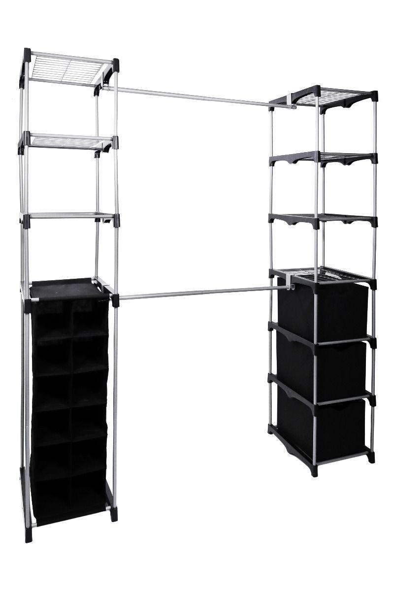 Closet Storage System - Portable Bedroom Wardrobe Storage Rack Kit