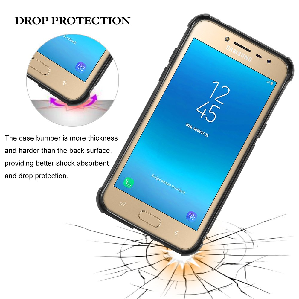 Galaxy J2 Pro 2018 Grand Prime Case Tpu Leather Style Soft Samsung J200 Tauri Anti Fingerprint Flexible Brushed Shockproof Protective Cover