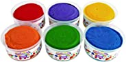 Colorations Scented Colored Dough, 6 Pounds, 6 Bright Colors and Fruity Scents, Non-Toxic, Resealable Tubs, Soft, Pliable, No