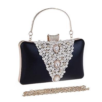 a873792867 EAPTS Fashion Women Lady Bridal Party Prom Evening Clutch Purse Handbag  Shoulder Bag (Black)  Handbags  Amazon.com