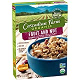 Cascadian Farm Organic Granola, Fruit and Nut Cereal, 13.5 Ounce