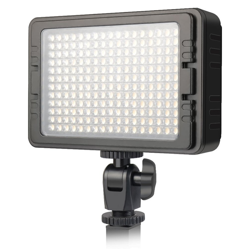UTEBIT 204 Led Video Light 3200K-5600K Ultra B-Right Dimmable Led Panel Lights with 2 Flitters Compatible for Nikon, Canon, Olympus, Pentax and Other Cameras
