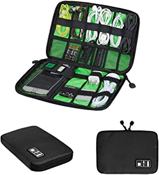 Organizador de Cables Universal para Viajes, Bolsa de Accesorios electrónicos para Cable USB, Disco Duro, Tarjeta de Memoria, Cable de alimentación, Cargador de batería: Amazon.es: Electrónica
