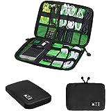 Zuoao Organisateur des Accessoires Electroniques Portable Pochette Rangement Multifonctionnel Sac Organisateur de Câbles Imperméable Noir