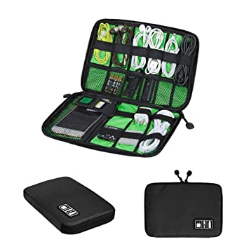 Organizador de Cables Universal para Viajes, Bolsa de Accesorios electrónicos para Cable USB, Disco Duro, Tarjeta de Memoria, Cable de alimentación, ...