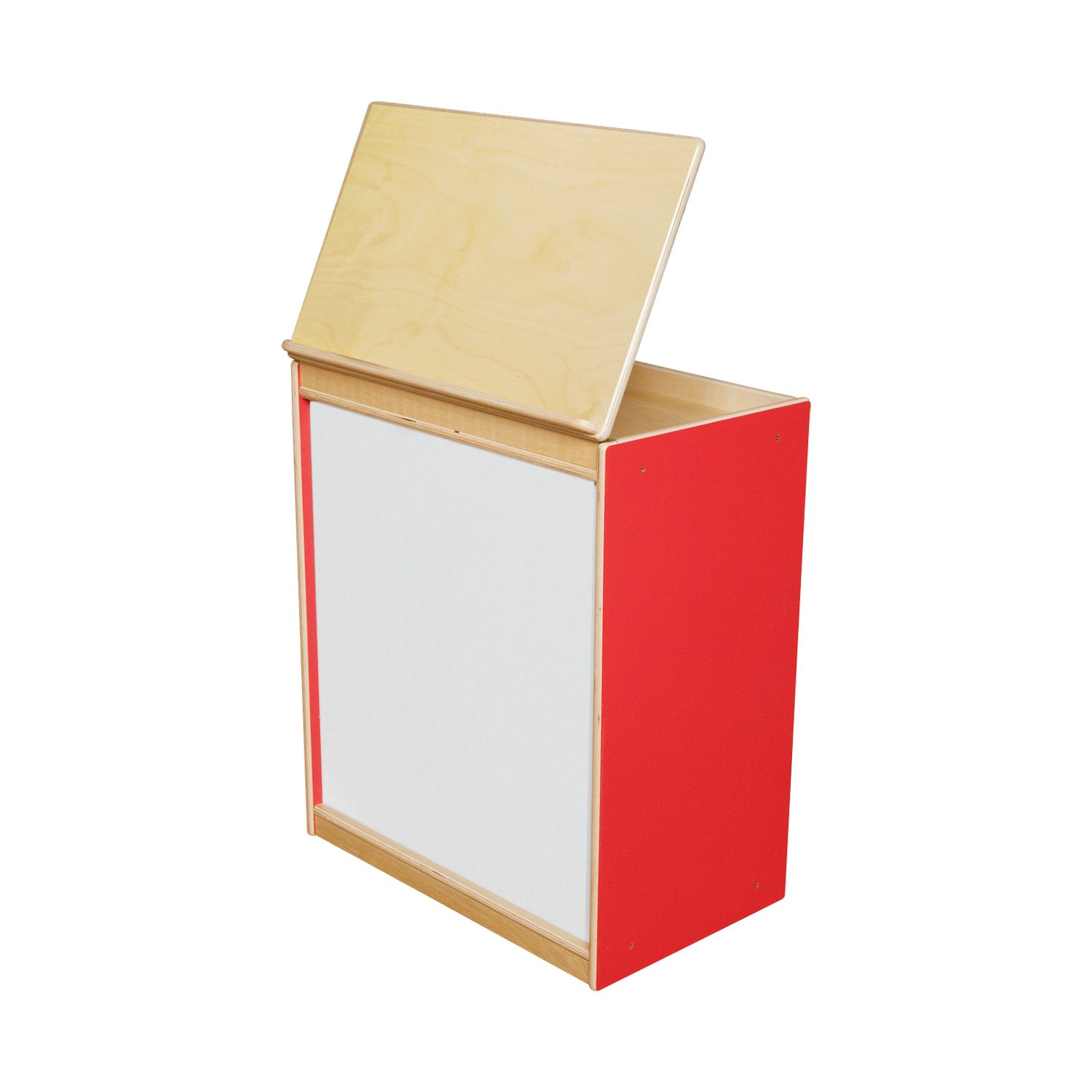 Wood Designs 54100R Strawberry Red Big Book Display with Magnetic Markerboard, 28'' Height, 18'' Width, 26.5'' Length