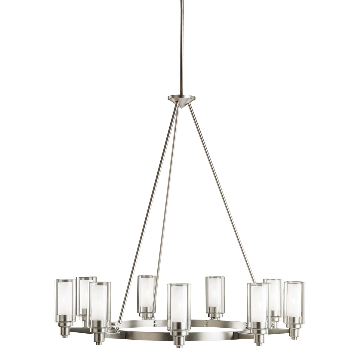 kichler 2346ni circolo chandelier 9 light brushed nickel