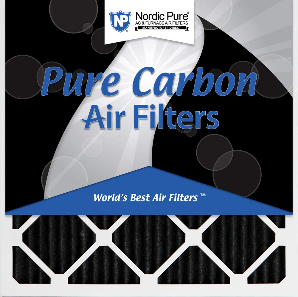Nordic Pure 24/_3//4x24/_3//4x1 MERV 8 Pure Carbon Pleated Odor Reduction AC Furnace Air Filters 4 Pack