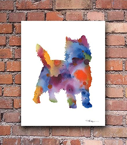 - Cairn Terrier Abstract Art Print by Watercolor Artist DJ Rogers