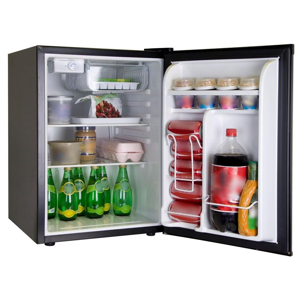 Superb Mini Refrigerator In Stainless Look: Compact Refrigerators: Kitchen U0026 Dining