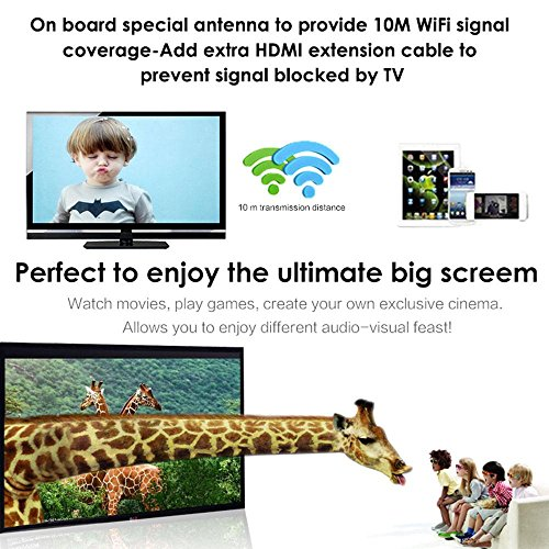 WIFI Display Dongle, niceEshop(TM) 5G Wireless Miracast Airplay Dongle 1080P HD TV Stick Display Adapter Receiver, Support Miracast DLNA Airplay for IOS / Android / Windows / Mac by niceeshop (Image #4)