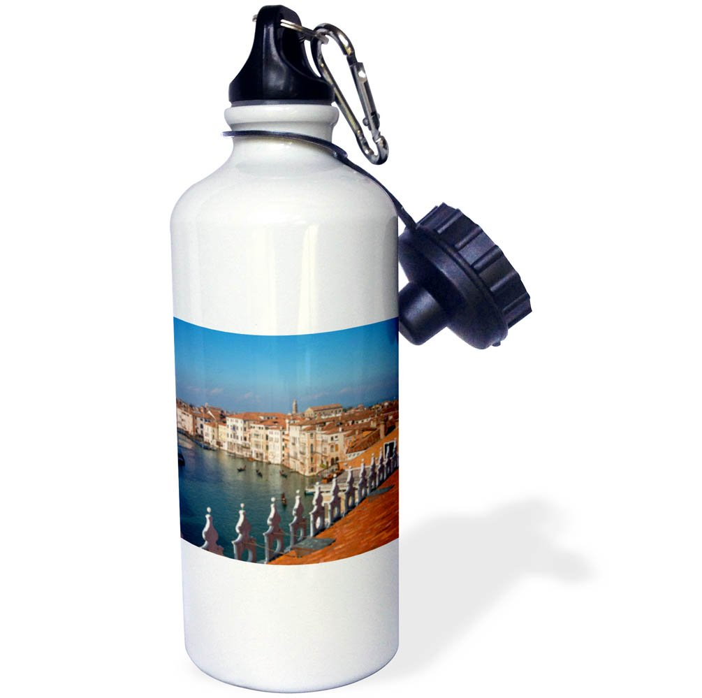 3dRose Danita Delimont - Italy - Rooftop view of the Grand Canal, Venice, Veneto, Italy - 21 oz Sports Water Bottle (wb_277570_1)