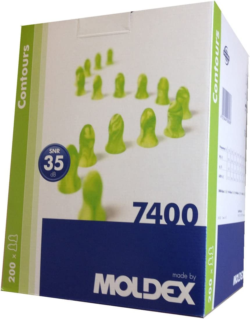 SNR = 35 db Ohrst/öpsel Moldex Contours 7400 200 Paar Geh/örschutz