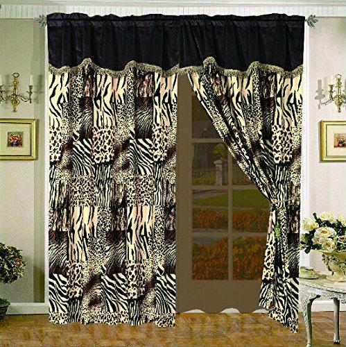 Legacy Decor 7 Pc Multi Animal Print Black, Brown, Tan Microfur Comforter Set. Queen Size Comforter Set by Legacy Decor (Image #2)