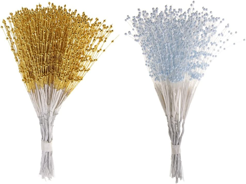 Blue 100 Stems Pearl Bead Spray DIY Craft Wedding Party Bouquet Decoration