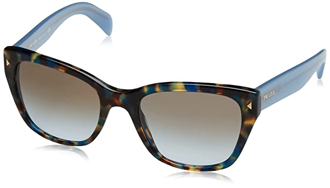 c95e08c597e1 Image Unavailable. Image not available for. Color: Prada Women's PR 09SS  Sunglasses Spotted Brown Blue / Light ...