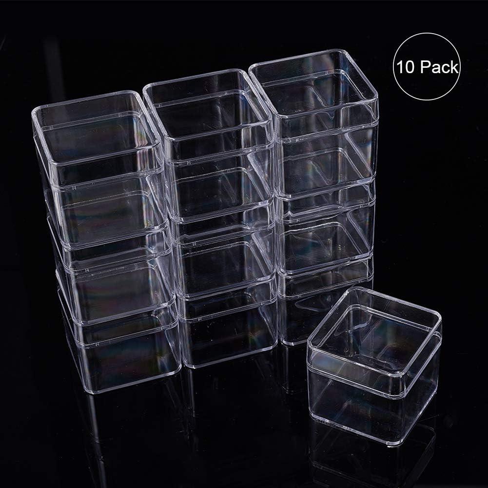 BENECREAT 10 Pack Scatole Contenitori in plastica ad Alta trasparenza per cassetti per Prodotti di Bellezza Perline Gioielli e Altri Piccoli Oggetti