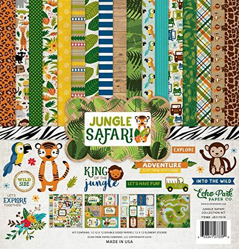Echo Park Paper Company JS117016 Jungle Safari Collection Kit (Jungle Scrapbooking)