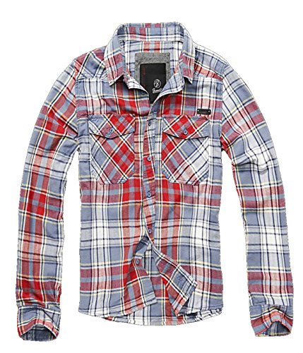 BRANDIT Check Shirt (3XL, Grau)