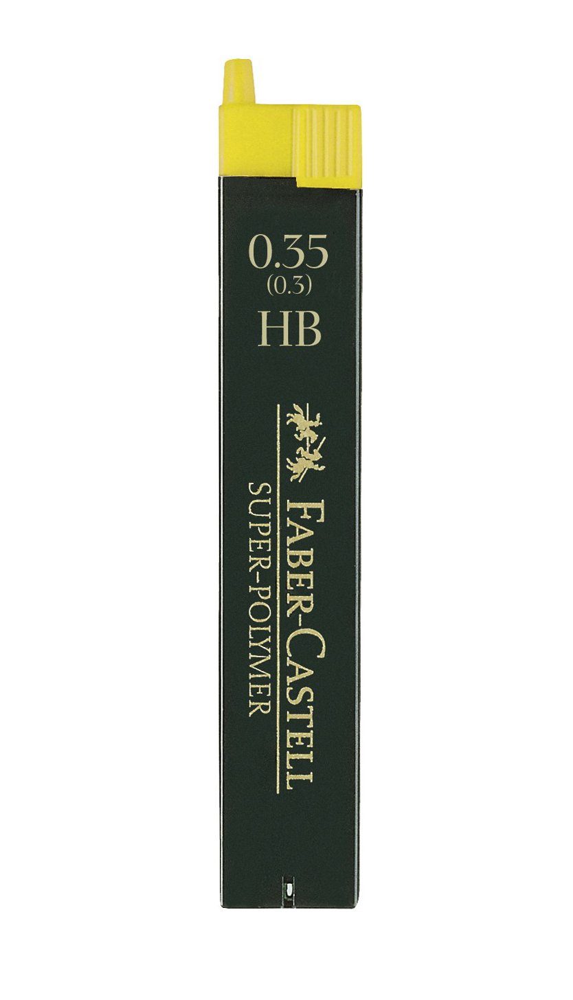 Faber-Castell 12 Minas (1 Tubo) 0.35mm HB