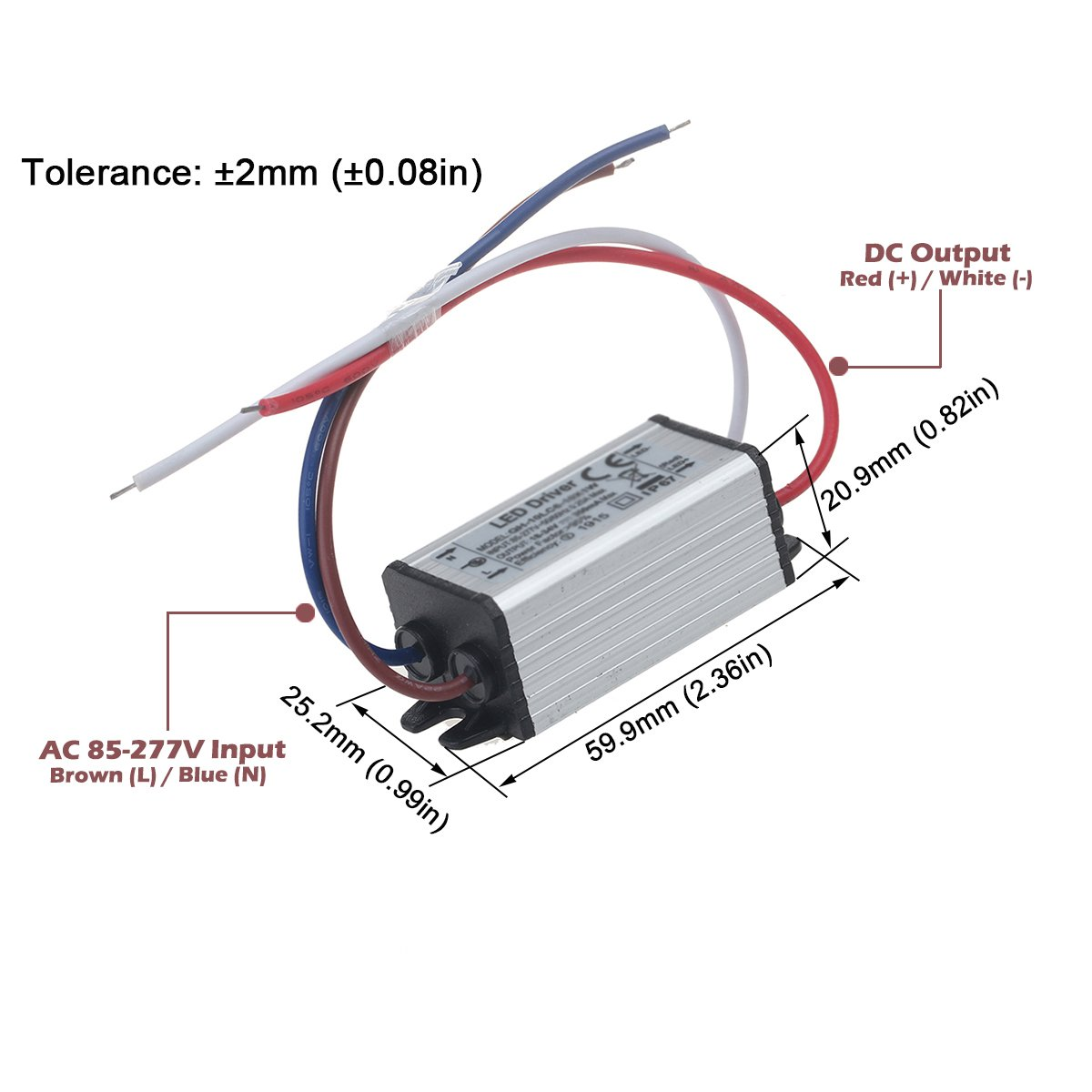 Chanzon Led Driver 300ma Constant Current Output 3v 20v 85 277v Wiring 3w Leds In Series Ac Dc 1 6 X1w 1w 2w 4w 5w 6w Ip67 Waterproof High Power Supply 300 Ma Lighting