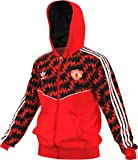 adidas Originals Men's Manchester United Soccer Fleece Full Zip (Red, Black)