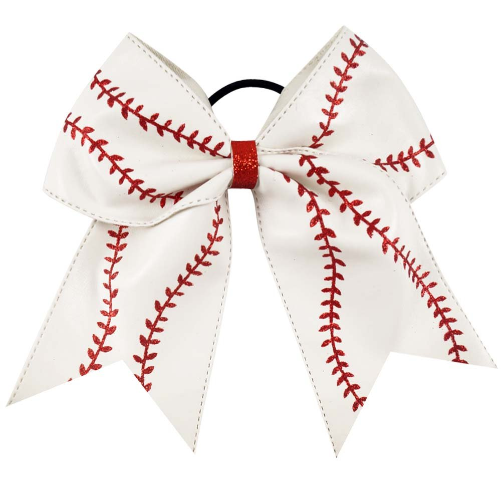 Large baseball bow - hairbow - hair bow - boutique bow - cheer bow - baseball cheer bow