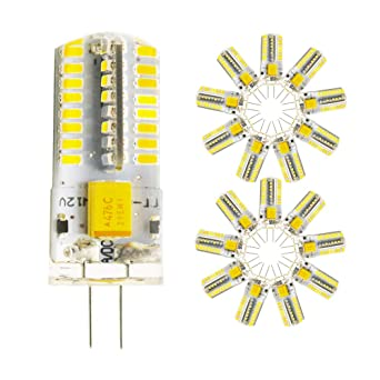 4 Watt AC 12V G4 Bombillas LED Equivalente a la lámpara halógena de 40W,Blanco