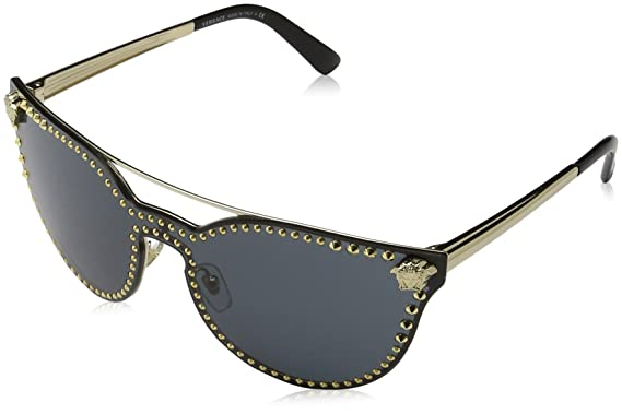 be73667418d51 Versace Womens Sunglasses Gold Grey Metal - Non-Polarized - 45mm