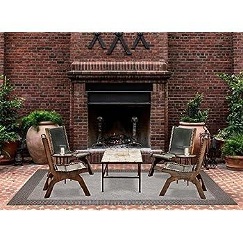 brown jordan platinum label outdoor rug 8x10 furman collection diamond cut border modern patio rugs