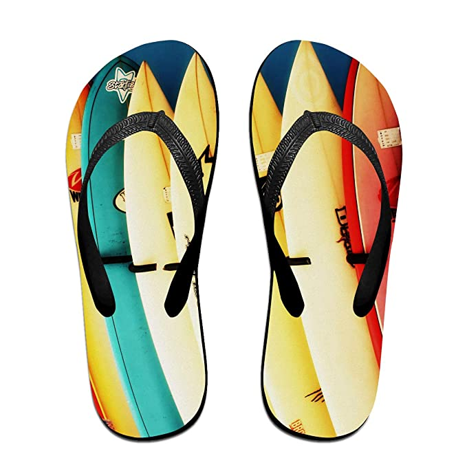 045d78bef23b0 Amazon.com: Colorful Surfboard Unisex Adults Casual Flip-Flops ...