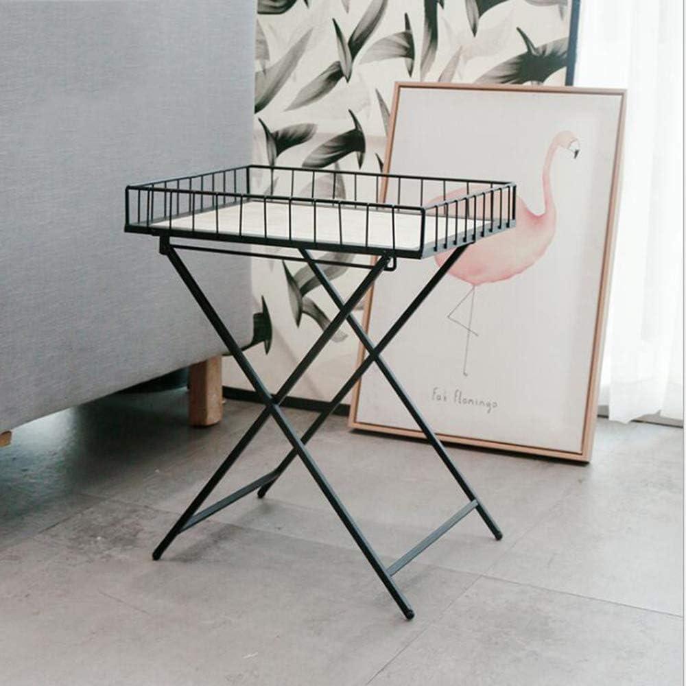 Nieuwe Manierstijl Van Good Tv-standaard lamp telefoontafel eiken tafel Scandinavische salontafel inklapbare woonkamertafel bijzettafel Iron Art draagbare eettafel 30 X 30 X 50 Cm, zwart, MK wit zwart QBcUifB