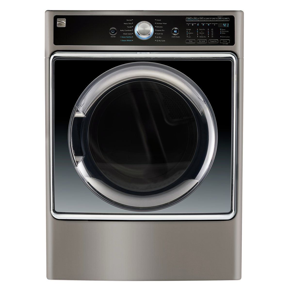 Kenmore Smart 81983 9.0 cu. ft. Electric Dryer with Accela Steam Technology in Metallic Silver - Compatible with Amazon Alexa, includes delivery and hookup (Available in select cities only)