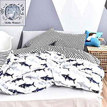 Amazon.com: BuLuTu Kids Bedroom Five-pointed Stars US Twin ...
