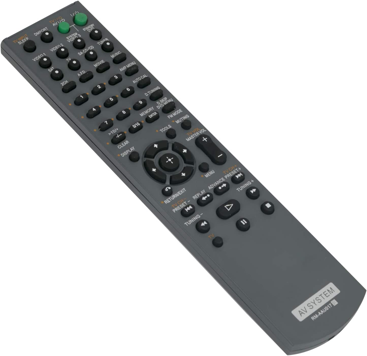 New RM-AAU017 Replace Remote Control RMAAU017 fit for Sony AV Receiver Home Theater System HT-SF2000 HT-SS2000 STR-KS2000 HT-SF1200 HT-SS1200 STR-KS1200 SS-MSP2200 SS-CNP2200 SS-SRP2200 SS-WP2200