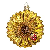 Old World Christmas Sunflower Glass Blown Ornament